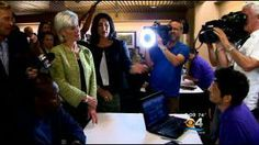 HA! HHS Sebelius tries to sign a person up for Obamacare and site crashes on the lap top in front of them.