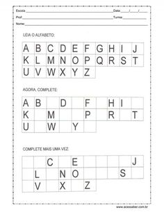 Alphabet Tracing Worksheets, Kids Math Worksheets, Kids Learning Activities, Alphabet Activities, Speech Language Therapy, Speech And Language, French Language Lessons, Preschool Writing, Learn English Grammar