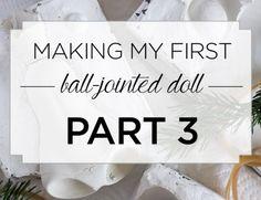 Making my first BJD doll: Part 1 - Rough sculpt — Adele Po. Adele, Doll Making Tutorials, Making Dolls, Porcelain Dolls Value, Paper Mache Sculpture, Ceramic Sculptures, Polymer Clay Dolls, Doll Tutorial, Doll Parts