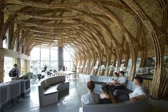 Architects from around the world show what they can create using bamboo construction in the first International Bamboo Architecture Biennale in China. Bamboo Architecture, Architecture Details, Interior Architecture, Pavillion Design, Bamboo Building, Eco Buildings, Bamboo Structure, Bamboo Construction, Bamboo Crafts