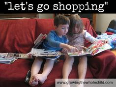 """We have entered the season of """"I want"""". A game to help keep it under control: """"let's go shopping"""""""