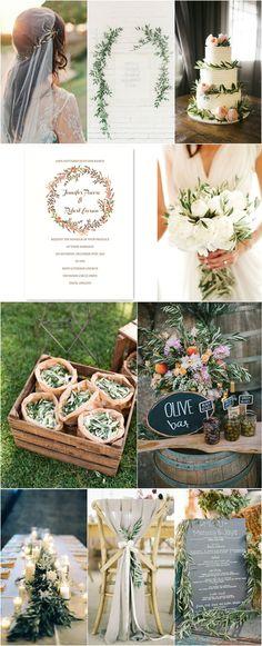 2017 Wedding Trend: Organic Olive Wedding
