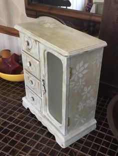 A personal favorite from my Etsy shop https://www.etsy.com/listing/234940690/shabby-chic-vintage-chalk-painted