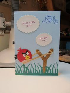 Angry Birds card - this is awesome and I've already made a bunch o' birds!