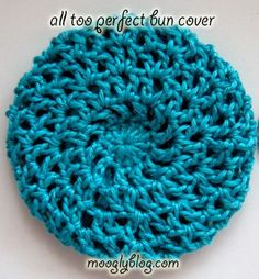 All Too Perfect Crocheted Bun Cover - free pattern on mooglyblog.com @Sarah Linares look what i just found!