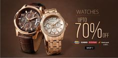 Snapdeal Offers Discount Up to 70% OFF on Watches - Men's Watches, Women's Watches, Kids Watches, Couple Watches and Smart Watches OFFER: Extra 5% Cashback on HDFC Debit Cards. T&C #watches #discount #coupon #sale