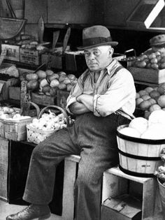 A Maxwell Street vegetable merchant in May 1939.