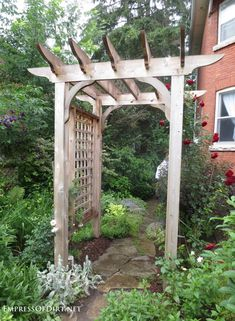 20+ Ways to create vertical interest in the garden with arbors, trellis, obelisks, and more. Rose Arbor.