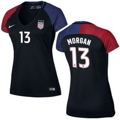 Alex Morgan US Soccer Nike Women's Away Replica Stadium Jersey - Black - $119.99