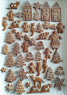 Biscotti, Gingerbread Cookies, Pikachu, Christmas Decorations, Make It Yourself, Desserts, Recipes, Food, Christmas