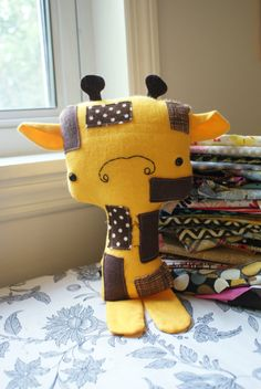 Meet Mr.Giraffe! Oh, he is so much fun, and super soft and cuddly too! He is a Dunlap Love original. Also the original giraffe design, check out the shop for another giraffe that resembles mr. Llama! :)    Each of my softie dolls are made to be one of a kind. No two are ever the same. You