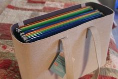 Hanging Files Tote Bag For Traveling Between Schools