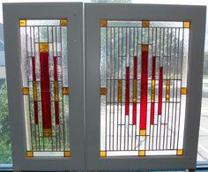 Custom Modern Cabinet Doors designed and created by artist Kim P. Kostuch at Studio One Art Glass Cabinet Door Designs, Glass Cabinet Doors, Stained Glass Cabinets, Stained Glass Windows, Custom Stained Glass, Modern Cabinets, First Art, Glass Art, Studio