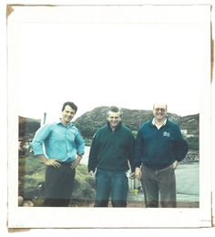 Loch Duart's founding partners on the day of acquisition in 1999
