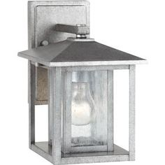 88025-57,Hunnington One Light Small Outdoor Wall Lantern in Weathered Pewter with Clear Seeded Glass,Weathered Pewter