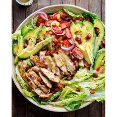 The mother of all salads right here. Honey Mustard Chicken Salad WITH Avocado AND Bacon! Plus a…