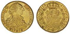 8 ESCUDOS CHARLES III SEVILLE - 8 ESCUDOS CARLOS III SEVILLA. Au. 1787. XF/EBC.