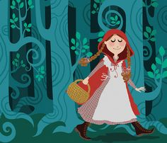Little Red Ridinghood Limited edition digital print 9 by kenguroo, $25.00