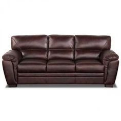 Waverly All Leather Sofa   $859 87w X 37h X 39d