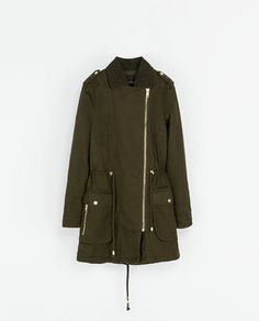 ZARA - WOMAN - COTTON CROSSOVER PARKA