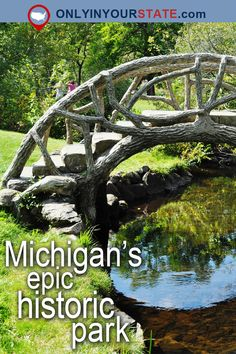 This Beautiful Park Tucked Away In Michigan Has An Intriguing History - Travel Michigan Vacations, Michigan Travel, Michigan Day Trips, Beautiful Park, Beautiful Places, Places To Travel, Places To See, Travel Destinations, Arizona Travel
