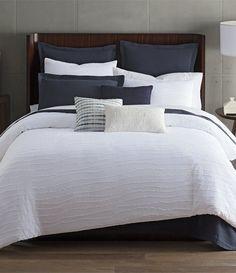 Halston Spencer Tonal Striped Duvet Mini Set King Size Duvet, Dillards, Master Bedroom, The Originals, Mini, Furniture, Bedding, Bath, Home Decor