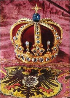 the Royal Crown of Prussia, made for Wilhelm II, German Kaiser, King of Prussia Royal Crown Jewels, Royal Crowns, Royal Tiaras, Royal Jewelry, Tiaras And Crowns, Pageant Crowns, Headpiece, Fascinator, Unusual Jewelry