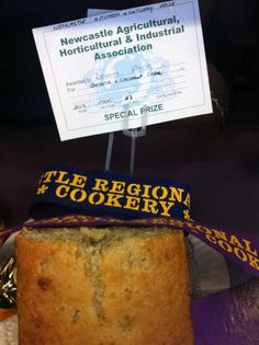 2012 Newcastle Show - 1st Place/Blue Ribbon in my first competition entry - banana Coconut Cake