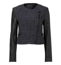 Chanel - pictured Marnie boucle biker jacket - Forever New Chanel Pictures, Forever New, Marni, Biker, Turtle Neck, Leather Jacket, Costumes, Cupboard, Sweaters