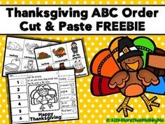 *****Updated 11-2-13 Download this FREEBIE and let students practice their alphabetizing skills using Thanksgiving vocabulary. Thanksgiving ABC Order Cut and Paste Printable—FREEBIE is a fun color, cut, and paste activity that includes a Thanksgiving theme where students place words in ABC order.