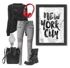 Designer Clothes, Shoes & Bags for Women Larsson & Jennings, Beats By Dr, Balmain, Polyvore Fashion, Steve Madden, Shoe Bag, Grey, Stuff To Buy, Shopping
