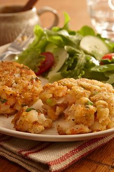 Make any meal special with this quick and easy shrimp cake recipe. Zatarain's Creole Seasoning and Crispy Southern Fish-Fri give this seafood side dish its creole flavor.