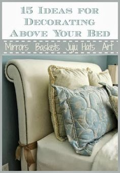 Master bedroom wall decor on pinterest headboards grey - Above the headboard decorating ...