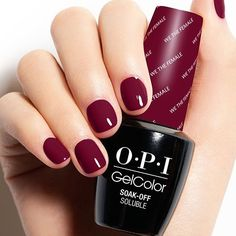 We partnered with @kerrywashington to create this powerful shade -#WeTheFemale makes for the perfect power manicure. Upgrade your clients from original lacquer to #OPIGelColor and earn up to $10 more per manicure.
