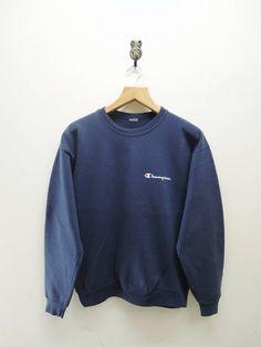 Vintage Champion Minimalist Sweatshirt Sport Street Wear Swag