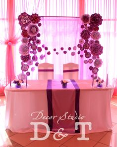 Wedding paper flowers backdrop http://vk.com/lafleur2015