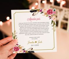 Convite para pais dos noivos floral rosa - Arte Digital no Elo7 | Fê Franco Artes Gráficas (EDC707) Wedding Ideias, Something Old, Groomsman Gifts, Marry Me, Communion, Floral Rosa, Groomsmen, Wedding Planning, Wedding Invitations