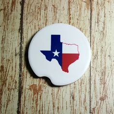 Texas Car Coaster State of Texas Car Coaster Cup Holder by 2GirlsForever on Etsy