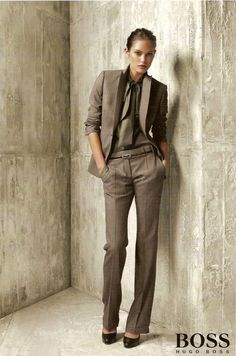 Uh oh, now I want lady suits. Catherine McNeil in Hugo Boss Business Outfit Damen, Business Outfits, Business Attire, Business Fashion, Business Women, Business Professional, Fashion Mode, Office Fashion, Work Fashion