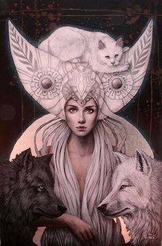 goddess selene - triple goddess selene — of sovereignty -triple goddess selene - triple goddess selene — of sovereignty - Ritual Dream Catcher Signed Art Print Fantasy Wolf Moon Goddess Art, Moon Goddess, Celtic Goddess, Isis Goddess, Arte Indie, Arte Fashion, Triple Goddess, Art Et Illustration, Gods And Goddesses
