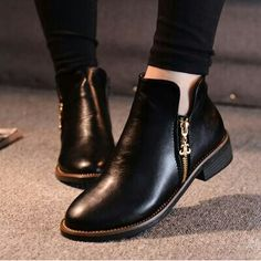 d61ff6789af booties fashion trend  black sleek boots  Ankle booties latest trend for  2017 www.