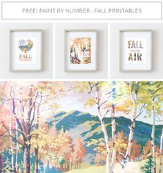 Free Fall Printables! 8x10 Paint by Number Art Prints, Free Downloads & More at heyhiblog.com