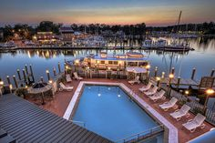Harbour Inn Marina and Spa at St Michaels Maryland. A great suite w/ waterfront balcony and double jacuzzi tub..ahh