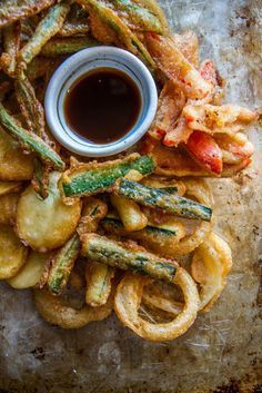 Crispy Vegetable Tempura- Vegan and GF Vegetable Recipes, Vegetarian Recipes, Cooking Recipes, Healthy Recipes, Sushi Recipes, Good Food, Yummy Food, Tasty, Vegetable Dishes