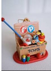 Christmas Decorations, Christmas Ornaments, Holiday Decorating, Fisher Price Baby Toys, Christmas Past, Xmas, Toy Display, Vintage Fisher Price, Miniature Crafts