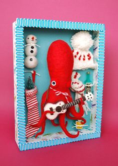 Dress-Up Squid & Octopus  These pieces are for the Luv-able Hug-able 2011 show at gallery hanahou in NYC.