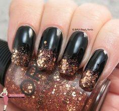 Glitter Gradient Nail Art.