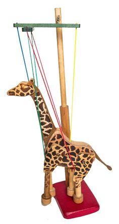 Wooden Marionette - Giraffe