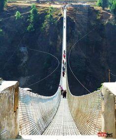 Kusma Gyadi Bridge, Nepal One of the highest footbridges