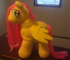 My Little Pony MLP Handmade Crochet Amigurumi Fluttershy by Zinton, $50.00